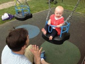 Millie loves the swings!