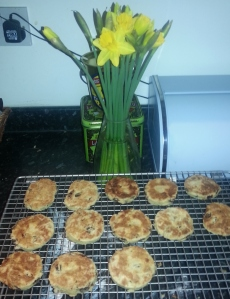 Welsh cakes and daffodils for St. David's Day!