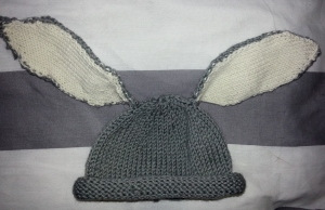 Flopsy bunny hat: perfect for spring babies!