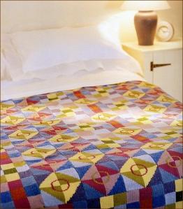 Debbie Abrahams Mosaic Blanket - source: Ravelry