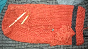 Failynn Fox cowl in progress...also comes in adult sizes!